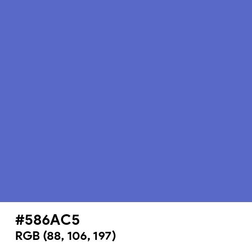Han Blue (Hex code: 586AC5) Thumbnail