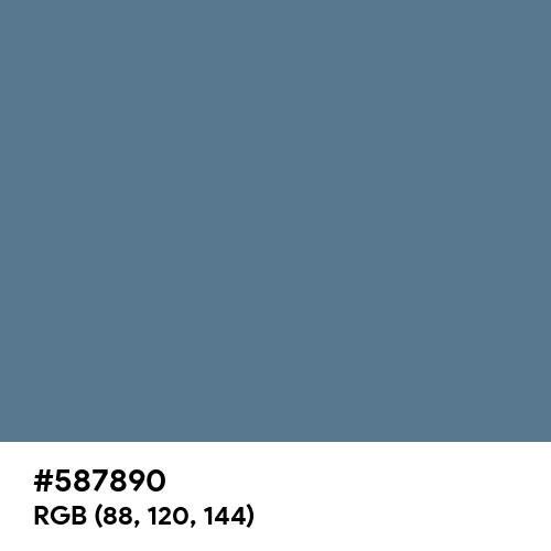UCLA Blue (Hex code: 587890) Thumbnail