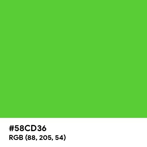 Vibrant Green (Hex code: 58CD36) Thumbnail