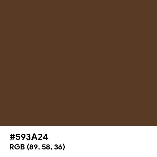 Deep Coffee (Hex code: 593A24) Thumbnail