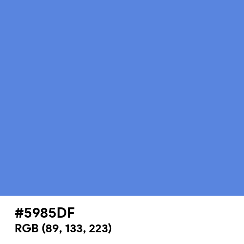 United Nations Blue (Hex code: 5985DF) Thumbnail