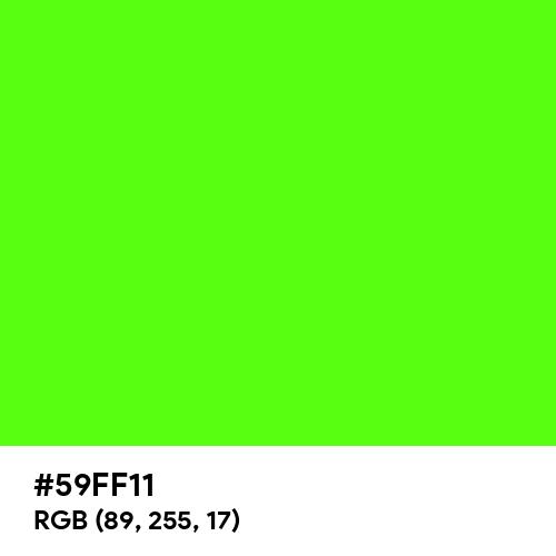 Bright Green (Hex code: 59FF11) Thumbnail