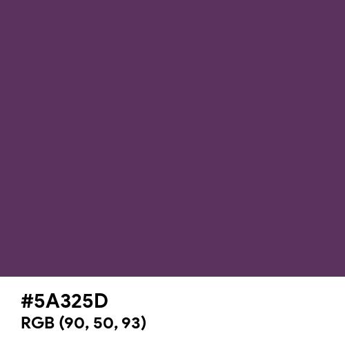 Japanese Violet (Hex code: 5A325D) Thumbnail