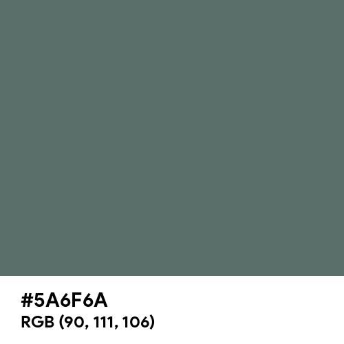 X-ray (Hex code: 5A6F6A) Thumbnail