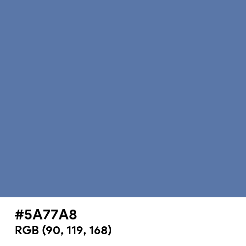 Blue Yonder (Hex code: 5A77A8) Thumbnail