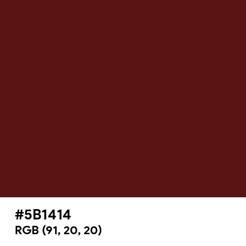Philippine Brown (Hex code: 5B1414) Thumbnail
