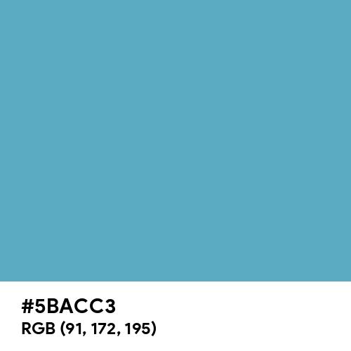 Blue Mist (Hex code: 5BACC3) Thumbnail
