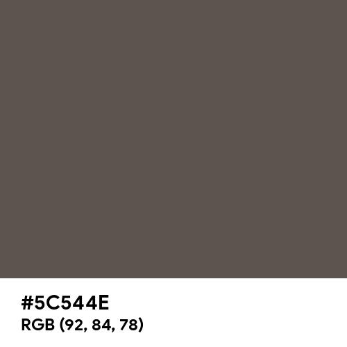 藍鼠 (Ainezumi) (Hex code: 5C544E) Thumbnail
