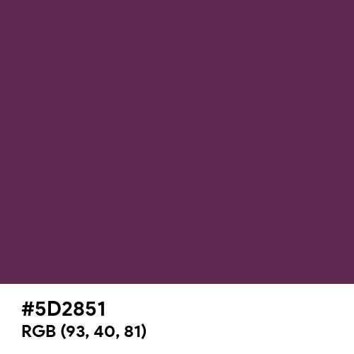 Japanese Violet (Hex code: 5D2851) Thumbnail