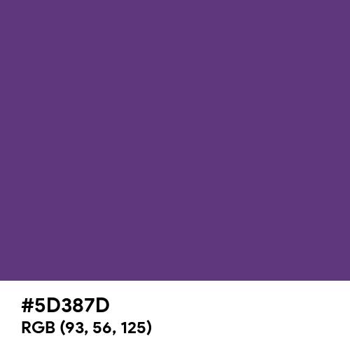 Dull Grape (Hex code: 5D387D) Thumbnail