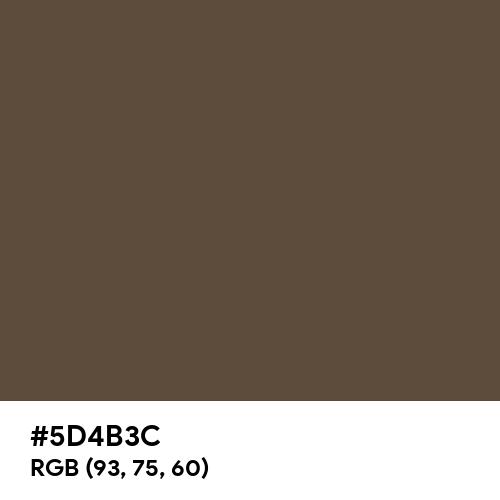 M&M's Brown (Hex code: 5D4B3C) Thumbnail