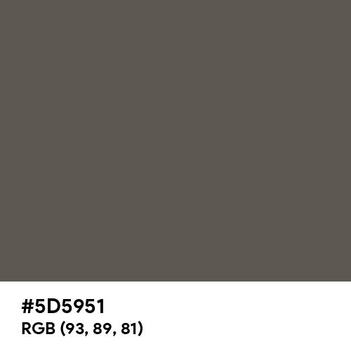 Black Pepper (Hex code: 5D5951) Thumbnail