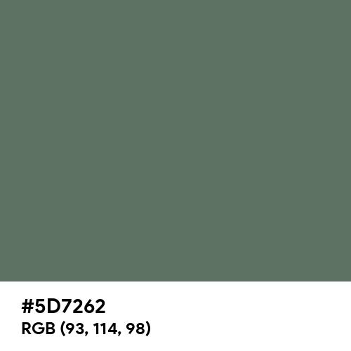 Axolotl (Hex code: 5D7262) Thumbnail