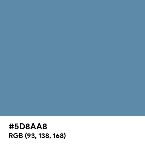 Air Force Blue (RAF) (Hex code: 5D8AA8) Thumbnail