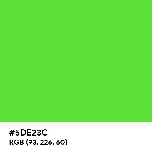 Highlighter Green (Hex code: 5DE23C) Thumbnail