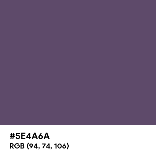 Independence (Hex code: 5E4A6A) Thumbnail