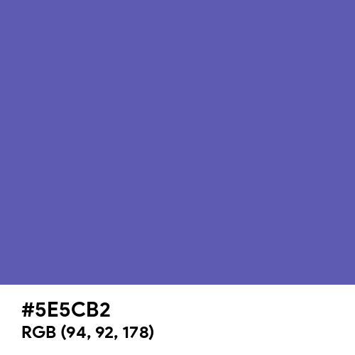 Pastel Navy Blue (Hex code: 5E5CB2) Thumbnail