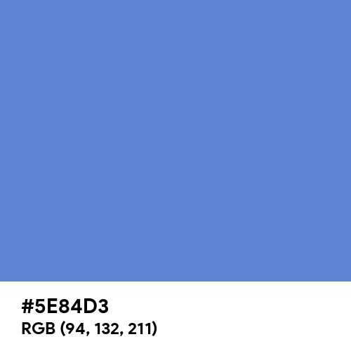 United Nations Blue (Hex code: 5E84D3) Thumbnail