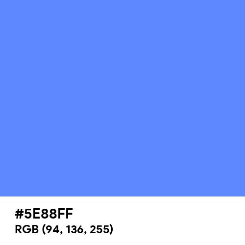 Blueberry (Hex code: 5E88FF) Thumbnail