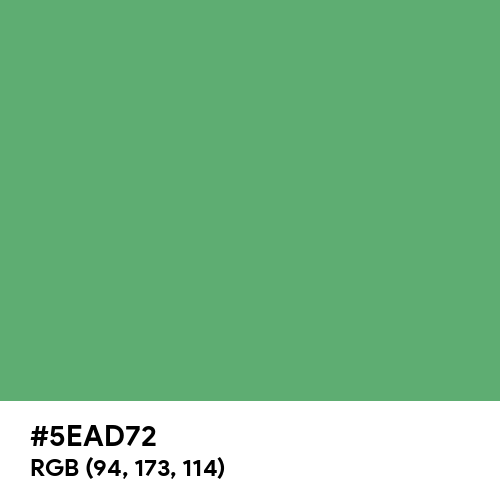 Forest Green (Crayola) (Hex code: 5EAD72) Thumbnail