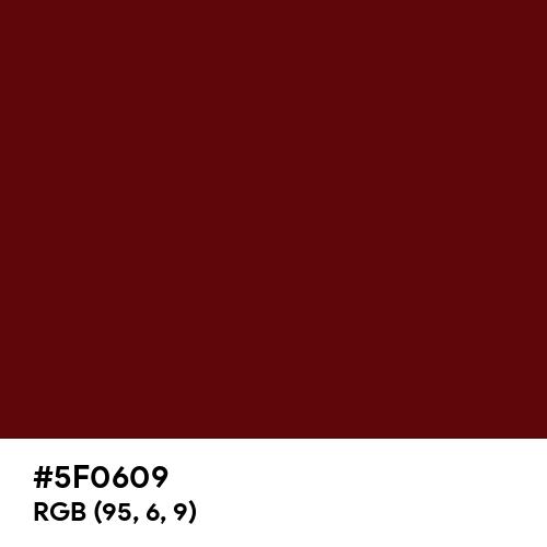 Vintage Burgundy (Hex code: 5F0609) Thumbnail