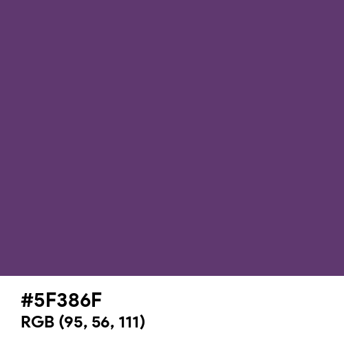 Imperial (Hex code: 5F386F) Thumbnail