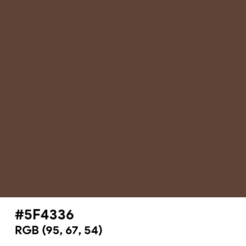 Chocolate Cookie (Hex code: 5F4336) Thumbnail