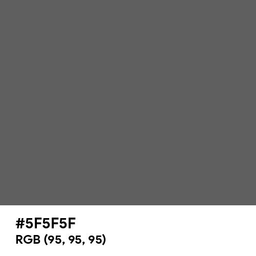 Granite Gray (Hex code: 5F5F5F) Thumbnail