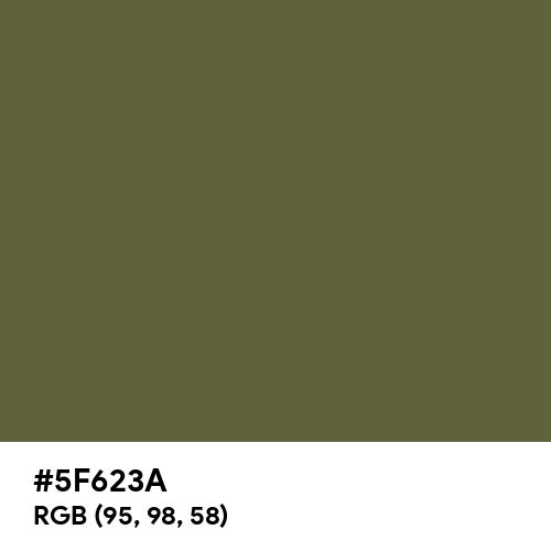 Dark Olive Green (Hex code: 5F623A) Thumbnail