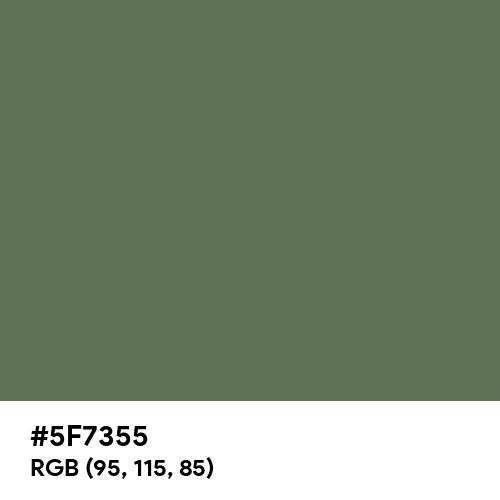 Vineyard Green (Hex code: 5F7355) Thumbnail
