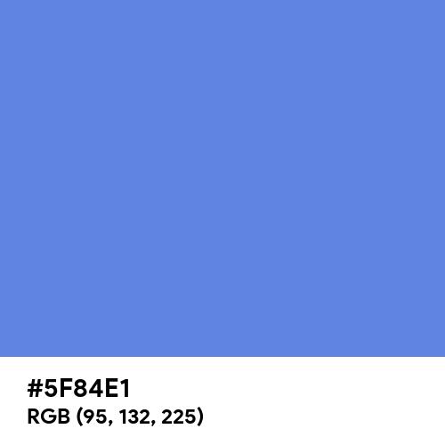 United Nations Blue (Hex code: 5F84E1) Thumbnail