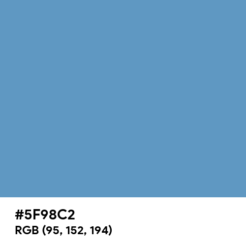 Blue-Gray (Hex code: 5F98C2) Thumbnail