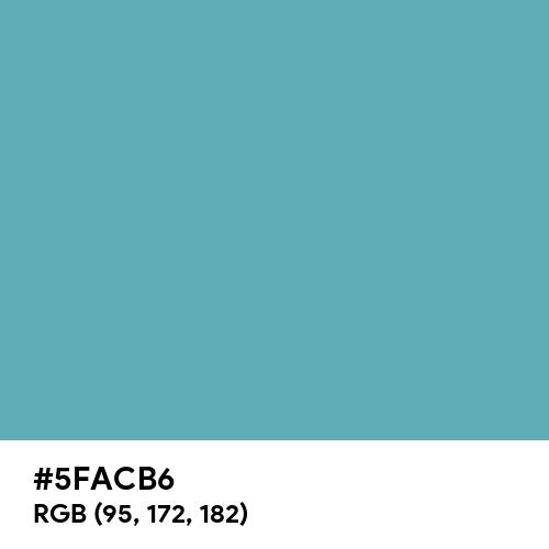 Crystal Blue (Hex code: 5FACB6) Thumbnail