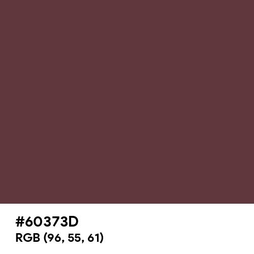 Red Mahogany (Hex code: 60373D) Thumbnail