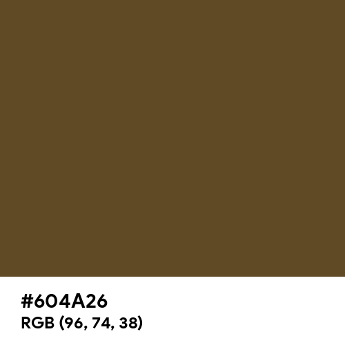 Dark Brown (Hex code: 604A26) Thumbnail