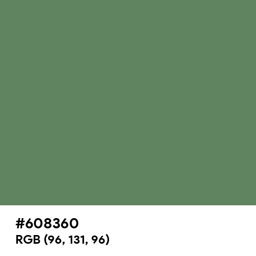 Axolotl (Hex code: 608360) Thumbnail