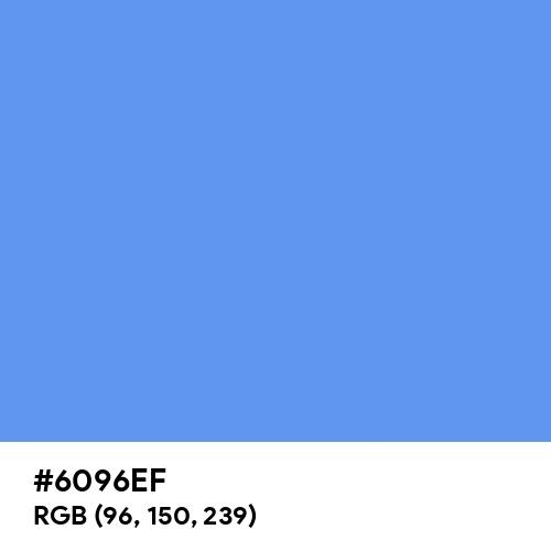 Cornflower Blue (Hex code: 6096EF) Thumbnail