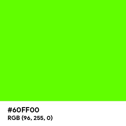 Bright Green (Hex code: 60FF00) Thumbnail