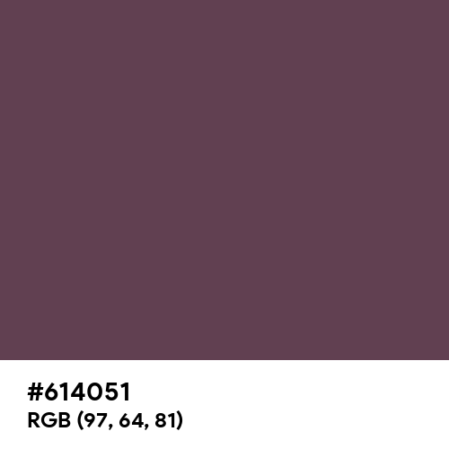 Eggplant (Crayola) (Hex code: 614051) Thumbnail