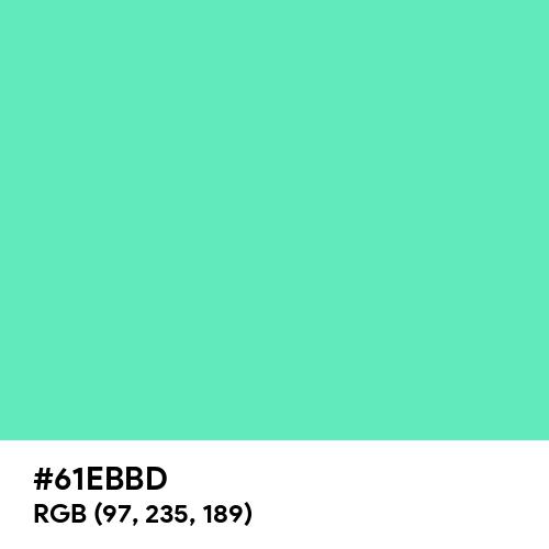 Medium Aquamarine (Hex code: 61EBBD) Thumbnail