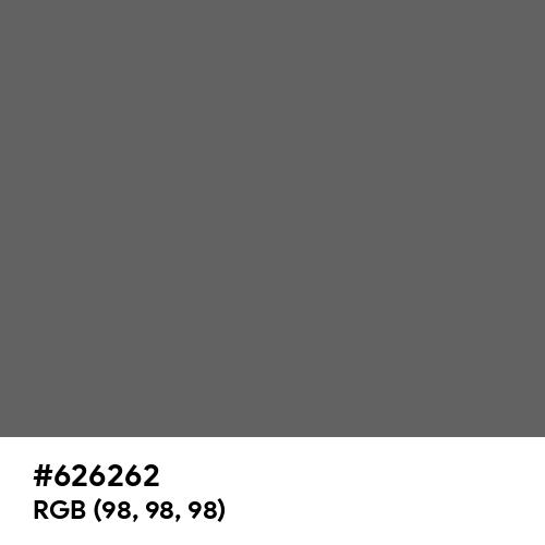Granite Gray (Hex code: 626262) Thumbnail