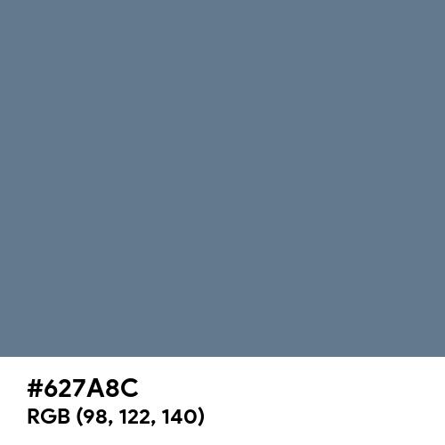 Slate Gray (Hex code: 627A8C) Thumbnail