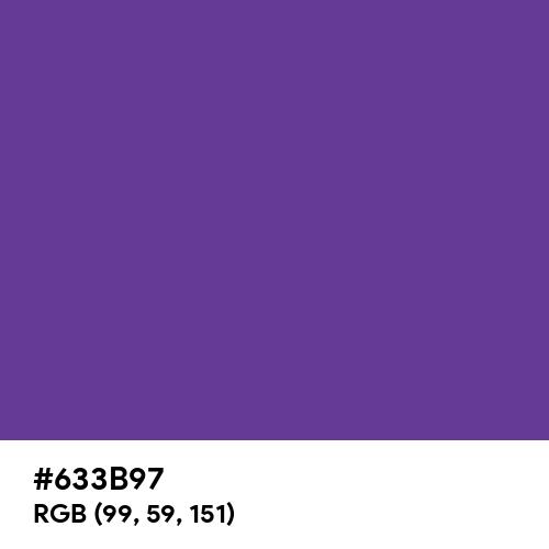 Rebecca Purple (Hex code: 633B97) Thumbnail