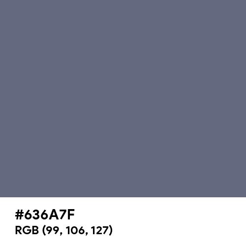 Dark Electric Blue (Hex code: 636A7F) Thumbnail