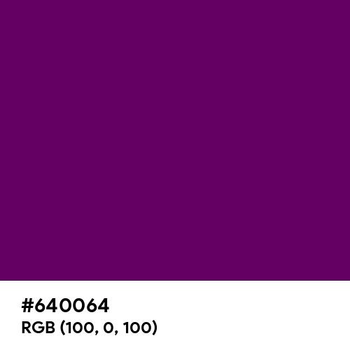 Indigo (Hex code: 640064) Thumbnail