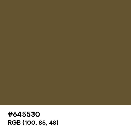鶯色 (Uguisu-iro) (Hex code: 645530) Thumbnail