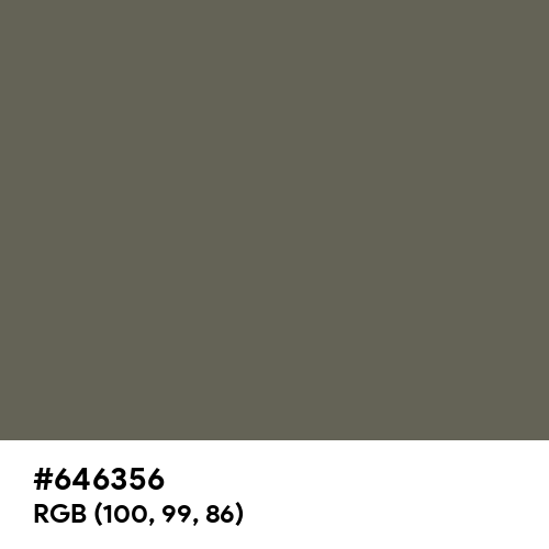 Dusty Olive (Pantone) (Hex code: 646356) Thumbnail