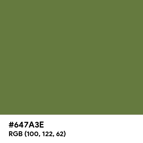 Mustard Green (Hex code: 647A3E) Thumbnail
