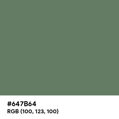 Axolotl (Hex code: 647B64) Thumbnail