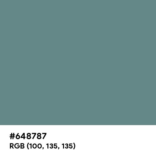 Steel Teal (Hex code: 648787) Thumbnail